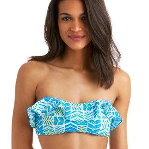 NWT Vineyard Vines ruffle bikini top sz Lg